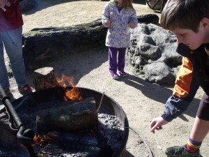 Toasting Marshmallows with Hamish