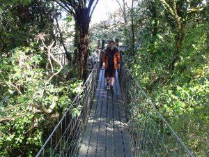 Hamish on the Swing Bridge