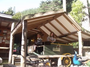 Louise and Duncan on the stagecoach