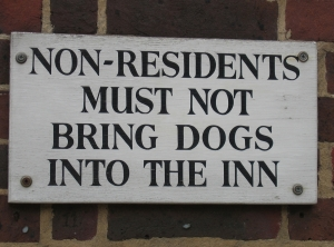 No Dogs in Inn